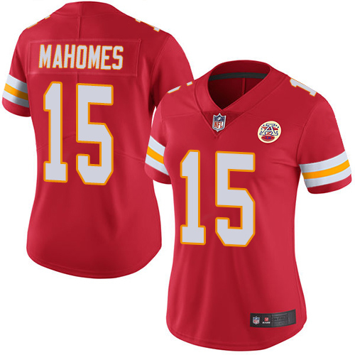 Majestic Athletic Women's Kansas City Chiefs Patrick Mahomes II Red #15 Limited Jersey