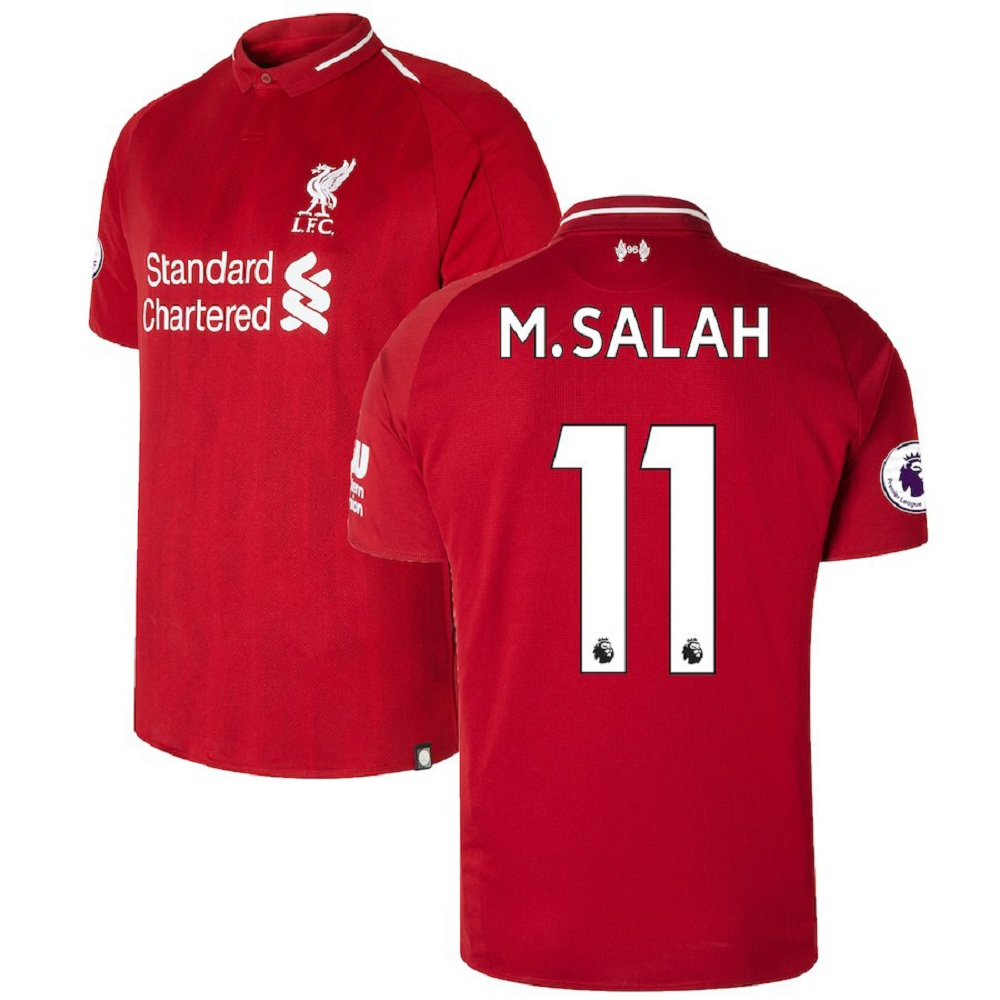 sports shoes 948fb a2a9a Majestic Athletic Mohamed Salah #11 Liverpool Men's 2018/19 Red Home Jersey