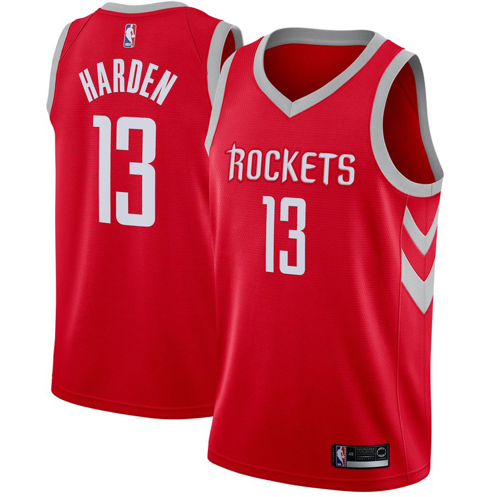 Majestic Athletic Men's James Harden Houston Rockets #13 Red Swingman Jersey