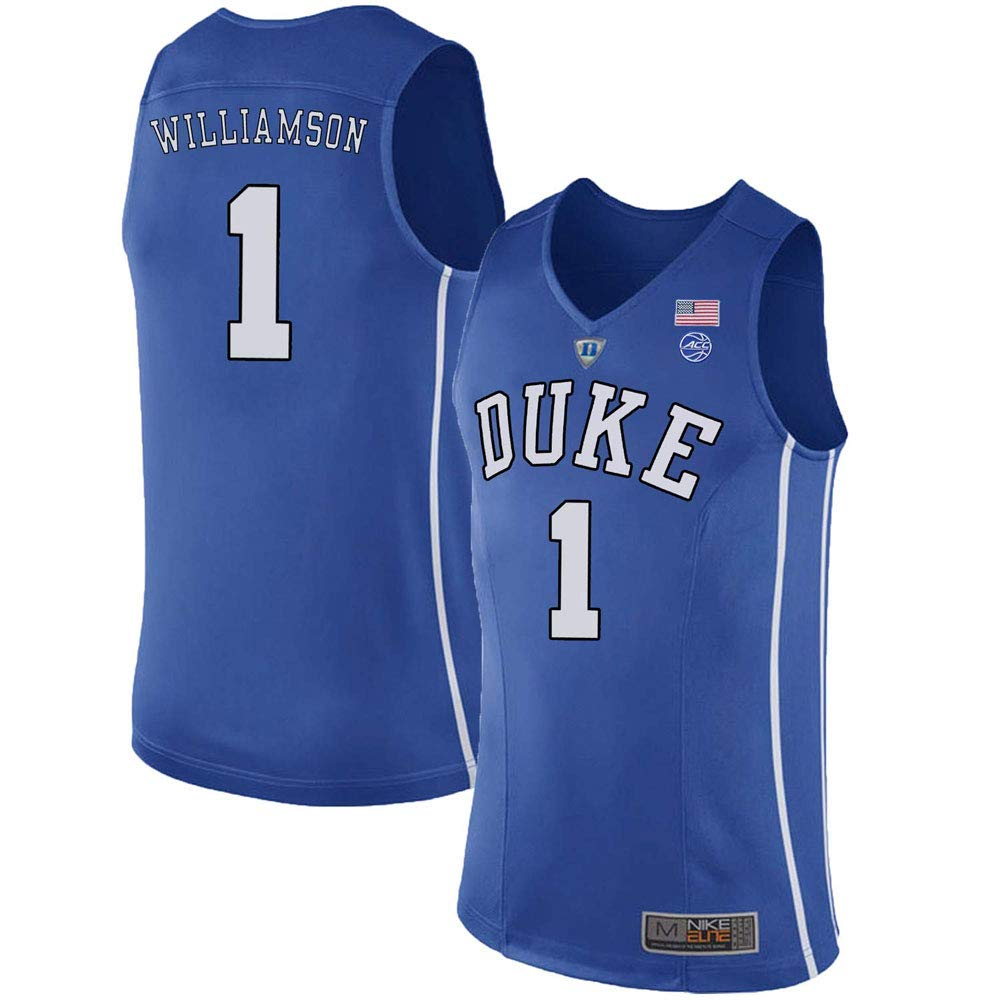 Duke Blue Devils Zion Williamson NO. 1 Stitched Men's College Basketball Jersey