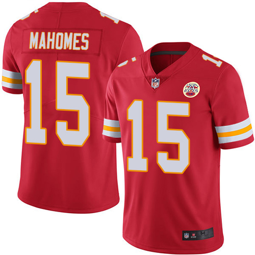 Majestic Athletic Men's Patrick Mahomes II Red Kansas City Chiefs #15 Limited Jersey