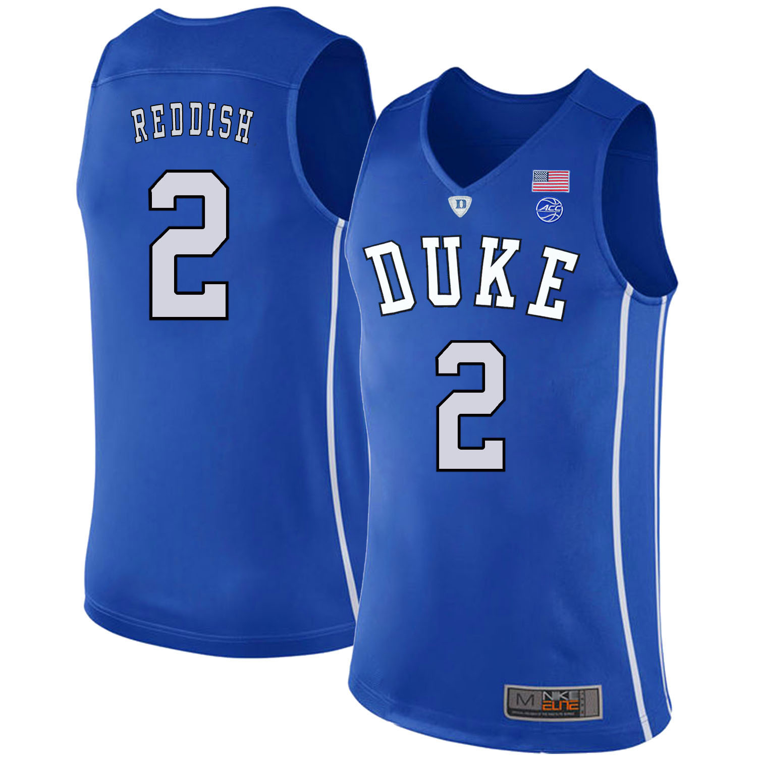 Majestic Athletic Men's Duke Blue Devils #2 Cam Reddish Blue College Basketball Jersey