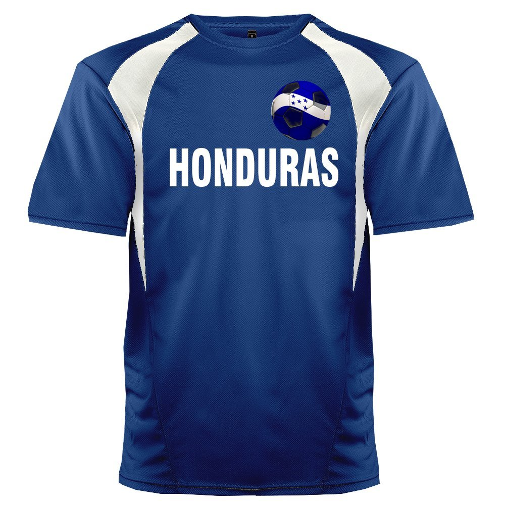 Custom Honduras Soccer Ball 1 Jersey Personalized with Your Names and Numbers