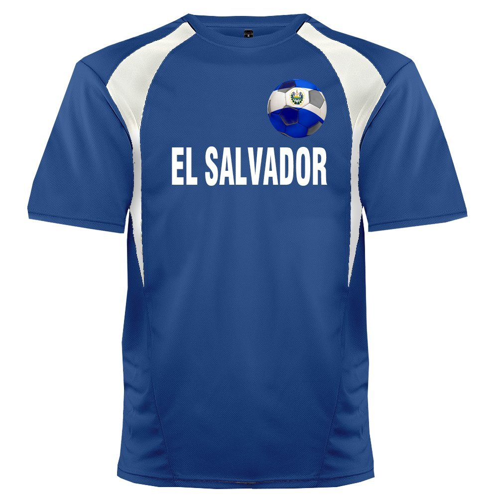 Custom El Salvador Soccer Ball 1 Jersey Personalized with Your Names and Numbers
