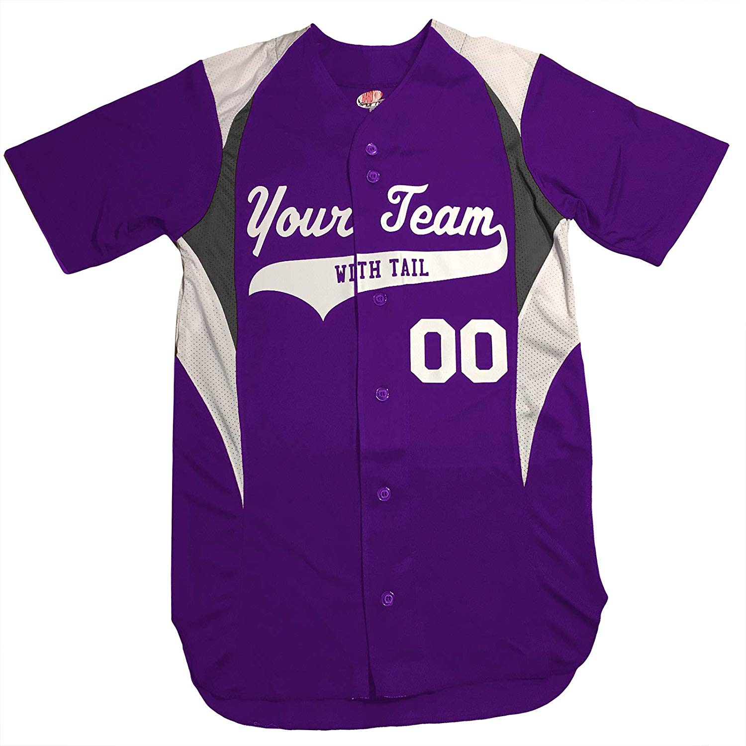 3 Color Button Down Custom Baseball Jersey with Your Names and Numbers
