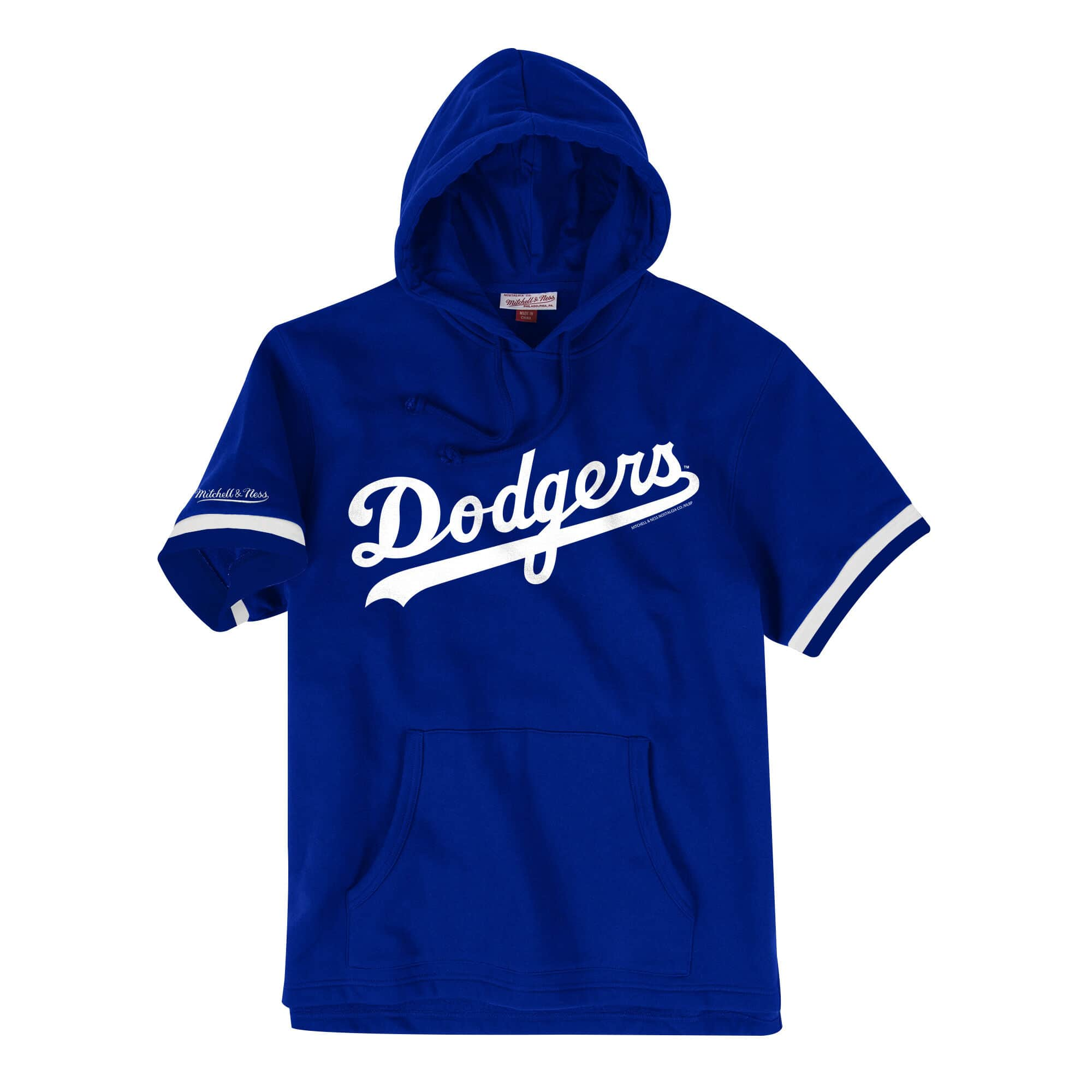 French Terry Short Sleeve Hoody Los Angeles Dodgers