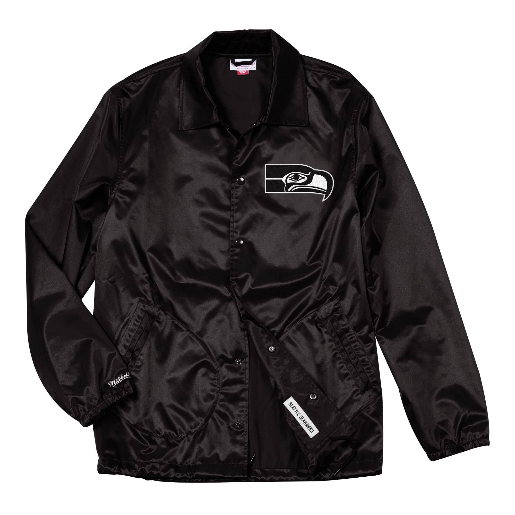 Satin Coaches Jacket Seattle Seahawks