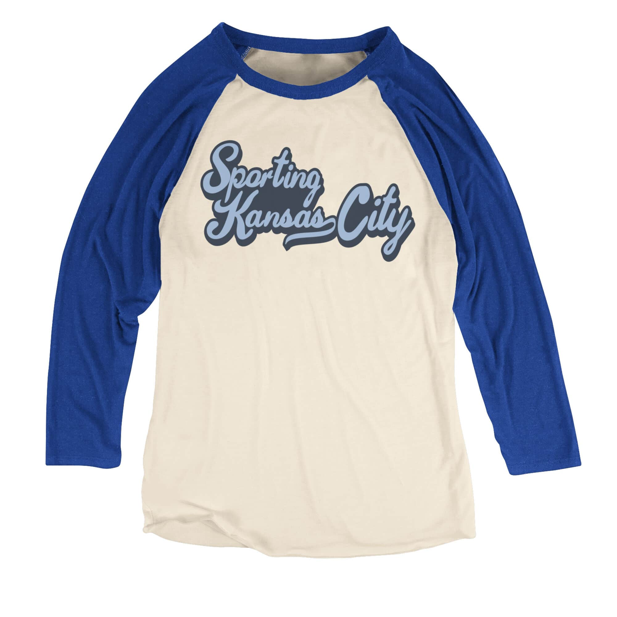 Team Color Script Women's Raglan Sporting Kansas City