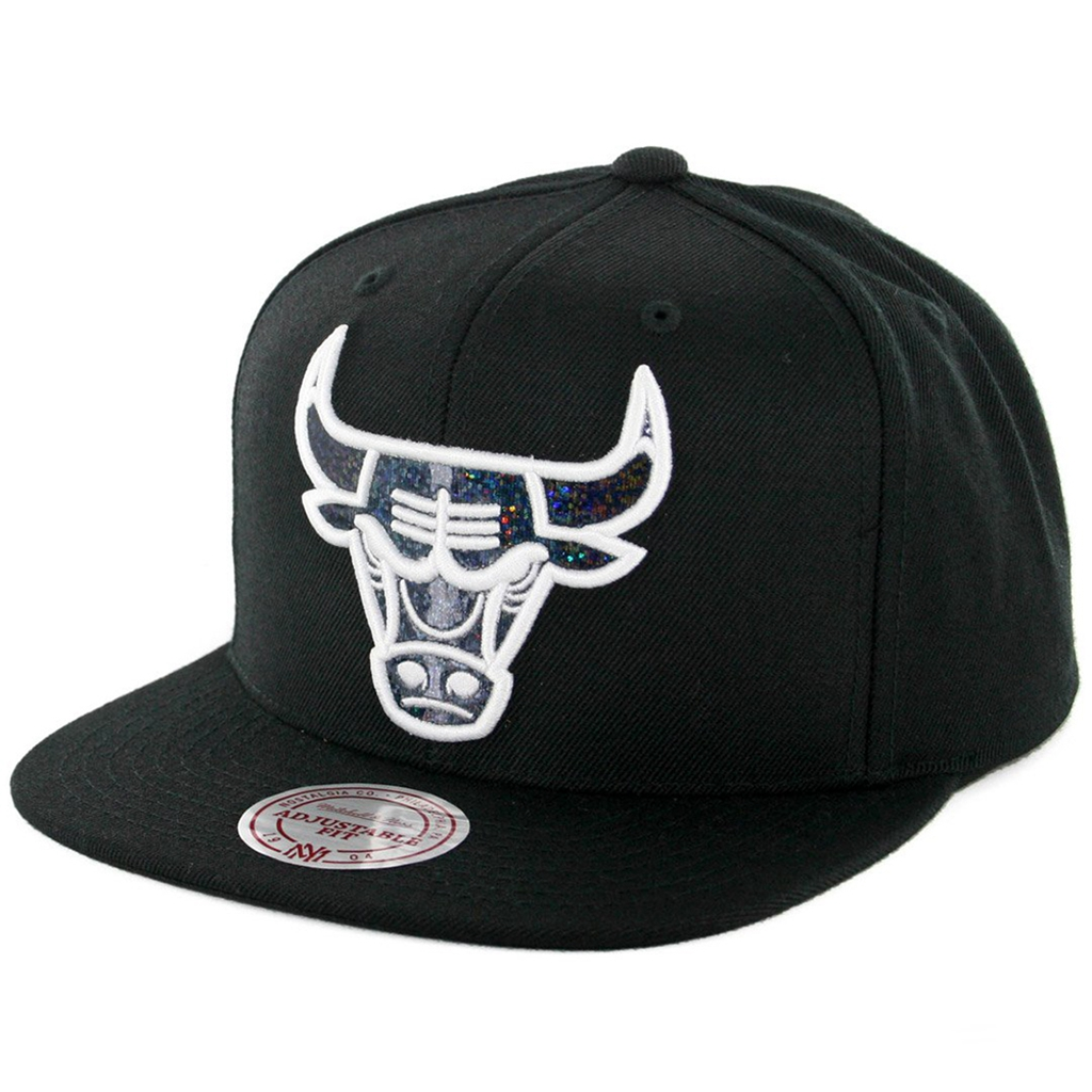 Mitchell & Ness NBA Dark Hologram Snapback Hat - Black