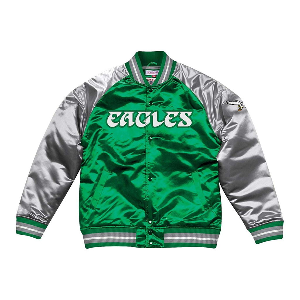 Mitchell & Ness Philadelphia Eagles NFL Tough Season Premium Satin Jacket
