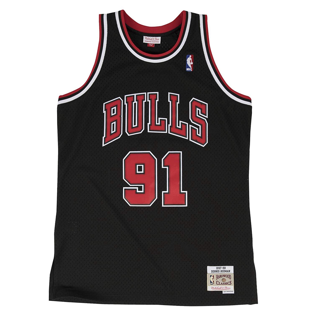 Dennis Rodman Chicago Bulls Mitchell & Ness Swingman Jersey Black
