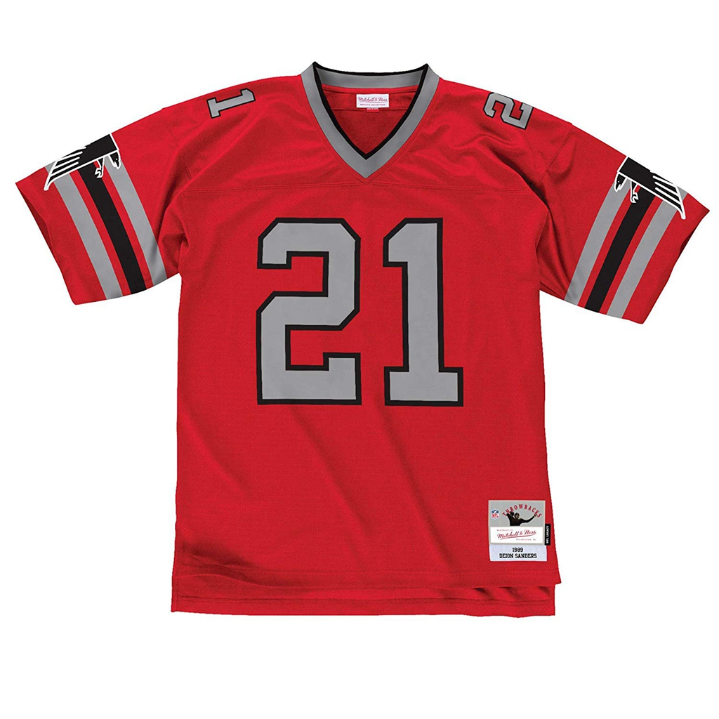 Mitchell & Ness Deion Sanders Atlanta Falcons Red Throwback Jersey