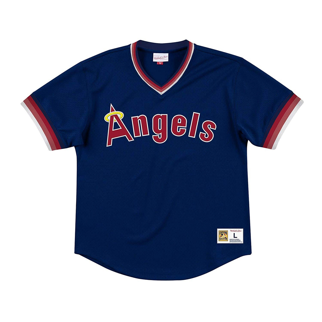 Mitchell & Ness Los Angeles Angels Men's Mesh V-Neck Jersey