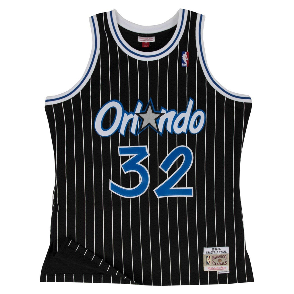 Mitchell & Ness Orlando Magic Shaquille O'Neal Black Swingman Jersey