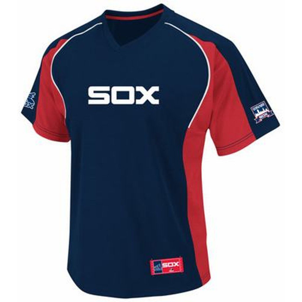 VF Chicago White Sox MLB Mens Cleanup Hitter Majestic Cooperstown Jersey Navy Blue Big & Tall Sizes