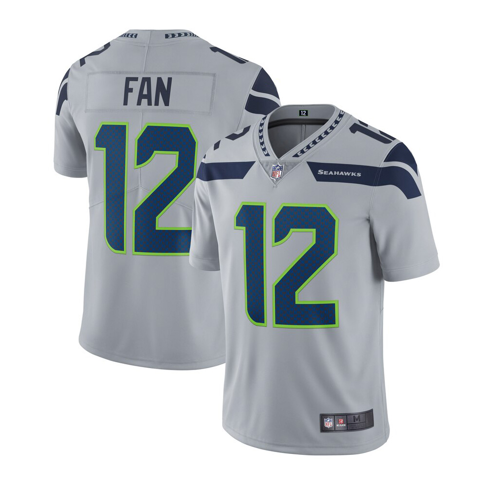 Men's Seattle Seahawks 12s Limited Player Gray Jersey