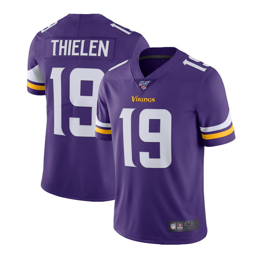 Spatula Minnesota Vikings Adam Thielen #19 100 Season Limited Jersey - Purple