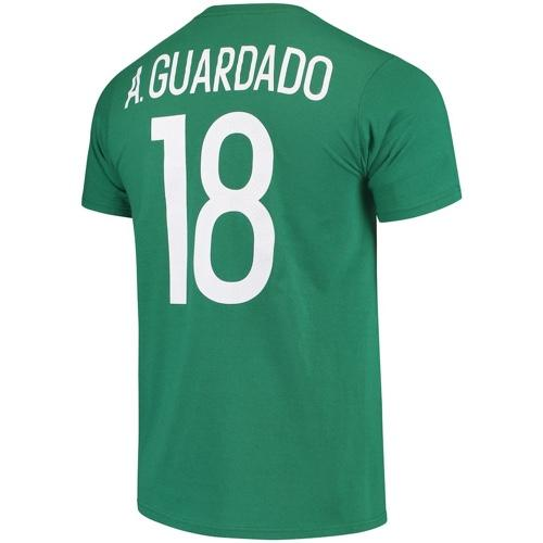 Mexico National Team #18 Guardado Name and Number Adidas Tee - Green