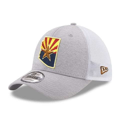 Arizona Shadow Tech New Era Trucker 9FORTY - Grey