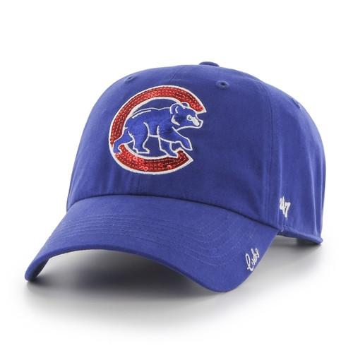 MLB Chicago Cubs Women Sparkle '47 Clean Up Hat
