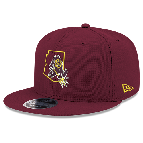 NCAA Arizona State Sun Devils Native State Outline New Era 9FIFTY Snapback JSE Hat