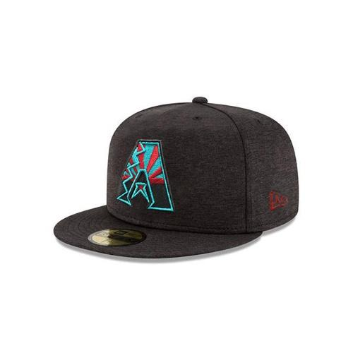 MLB Arizona Diamondbacks State Flag Logo Shadow Tech JSE New Era 59FIFTY - Black