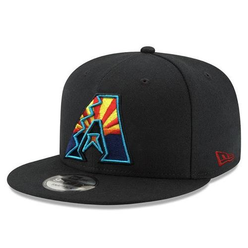 MLB Arizona Diamondbacks State Flag Logo JSE New Era 9FIFTY - Black
