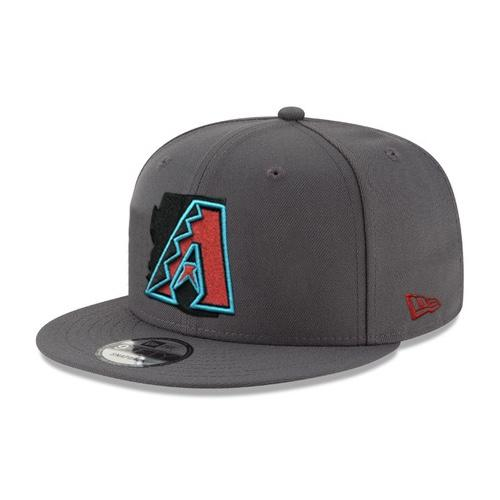 MLB Arizona Diamondbacks Alt Native State Outline JSE New Era 9FIFTY - Graphite