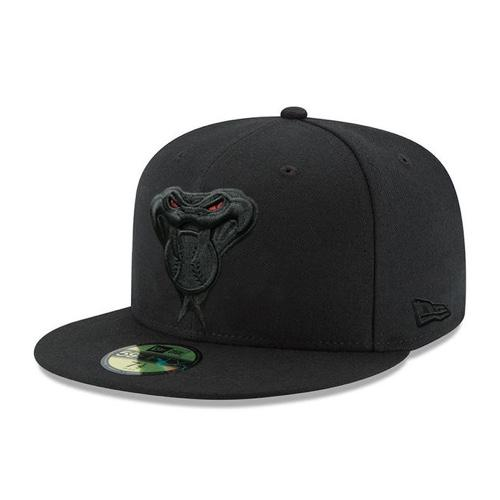 MLB Arizona Diamondbacks Red Eye New Era Fitted 59FIFTY JSE Hat - Black