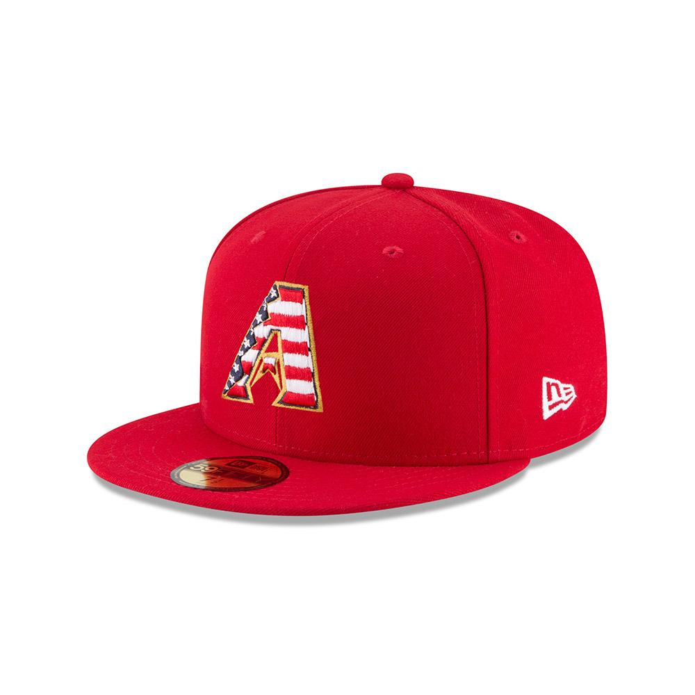 MLB Arizona Diamondbacks 4th of July Stars and Stripes New Era 59FIFTY - Red
