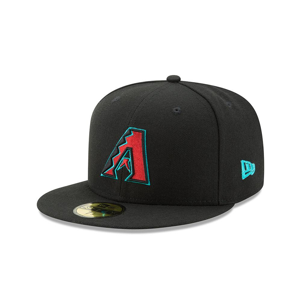 MLB Arizona Diamondbacks 20th Anniversary Side Patch Authentic Collection New Era 59FIFTY - Black