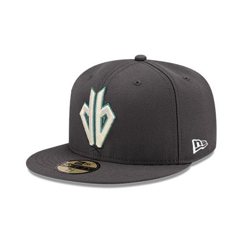 MLB Arizona Diamondbacks Home Alt DB Logo Outline JSE New Era 59FIFTY - Graphite
