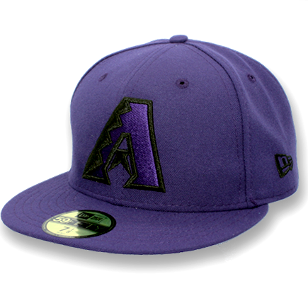 MLB Arizona Diamondbacks Black Skeleton New Era Fitted 59Fifty JSE Hat
