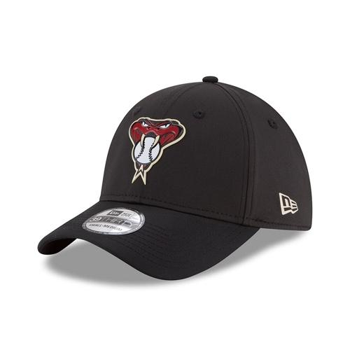 MLB ARIZONA DIAMONDBACKS ON-FIELD BATTING PRACTICE PRO LIGHT NEW ERA 39THIRTY - BLACK