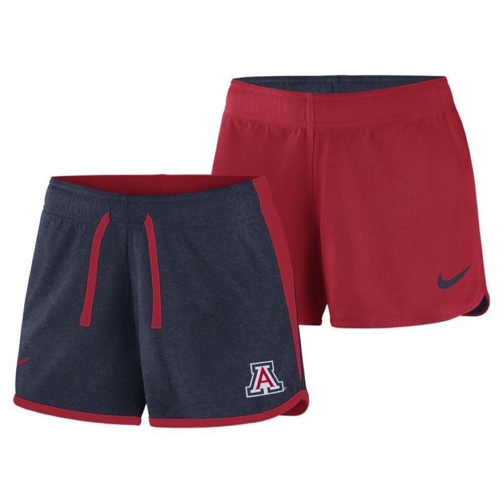Arizona Wildcats Women's Reversible Nike Crew Shorts - Red