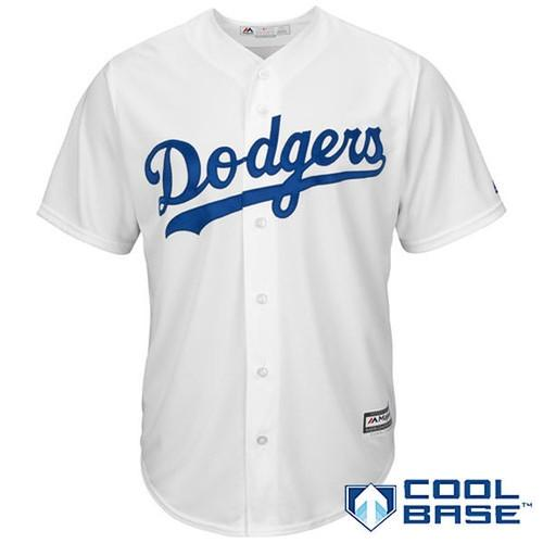 MLB Los Angeles Dodgers Clayton Kershaw Youth Cool Base Majestic Twill Player Jersey