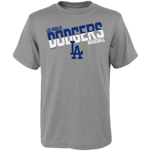 MLB Los Angeles Dodgers Youth All Meshed Up Tee - Grey