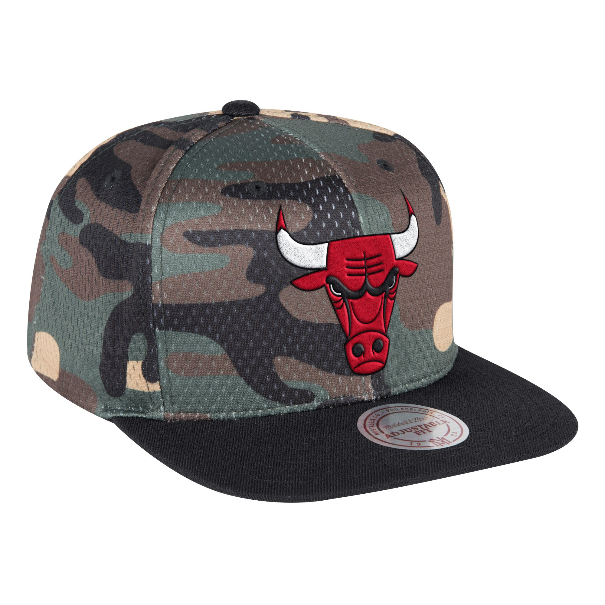 NBA Chicago Bulls Mitchell & Ness Camo Cover Snapback 9FIFTY - Camo