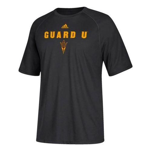 "NCAA Arizona State Sun Devils ""Guard U"" Adidas Tees - Black"