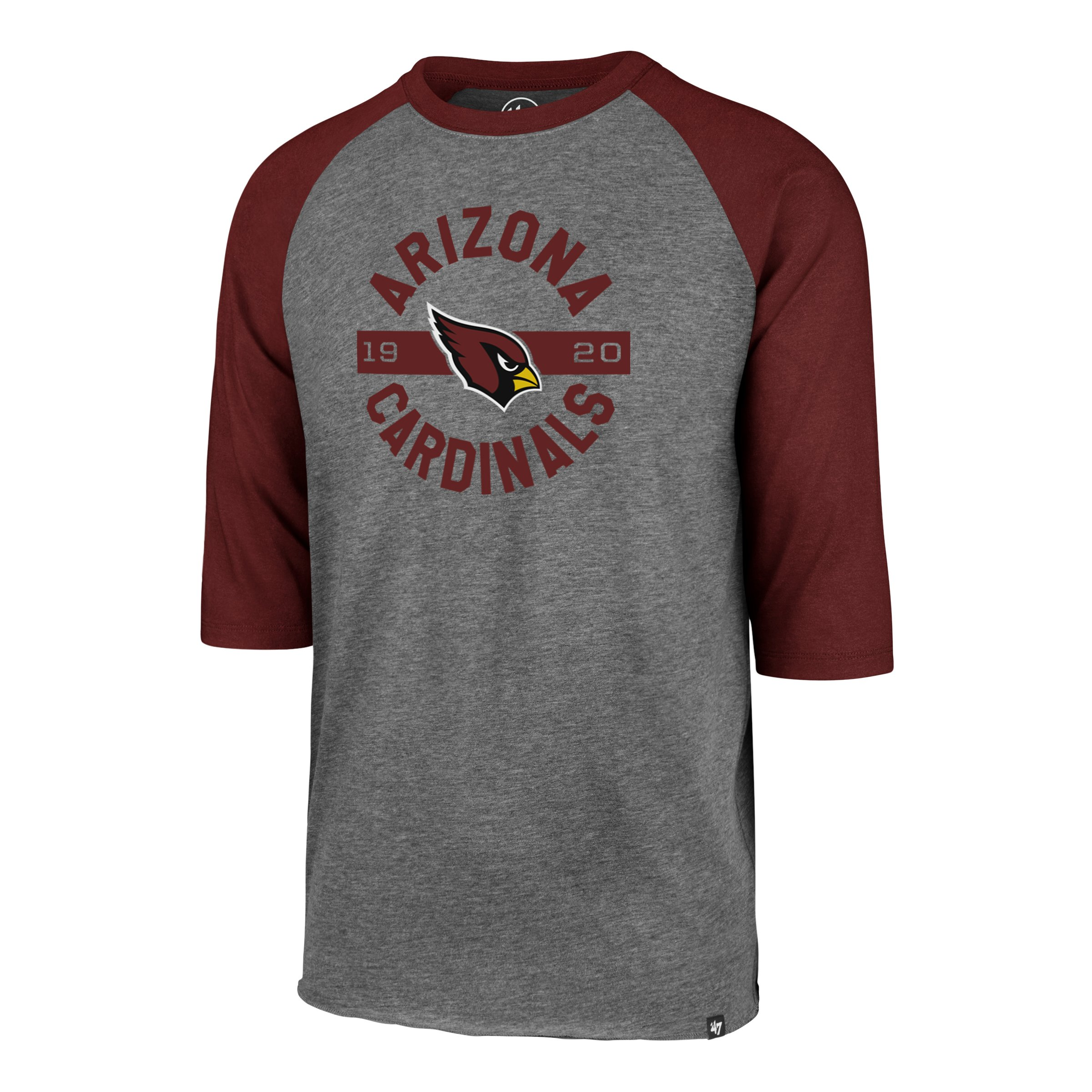 NFL Arizona Cardinals '47 Roundabout Club Raglan Tee - Gray